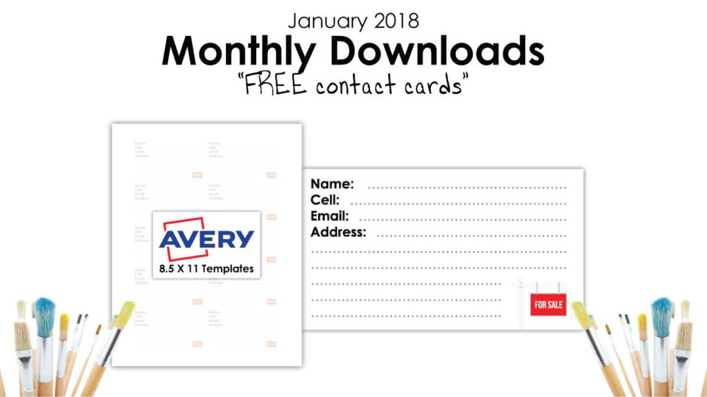 Free January Downloads Real Estate Agent Business Card Templates